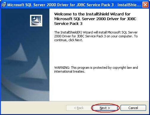 Step-by-step procedure to install SQL Server 2000 for JDBC driver